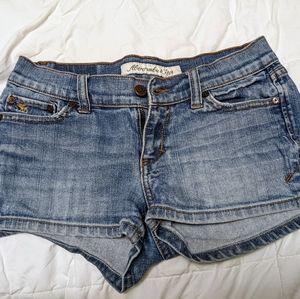 A&F Medium Wash Jean Shorts